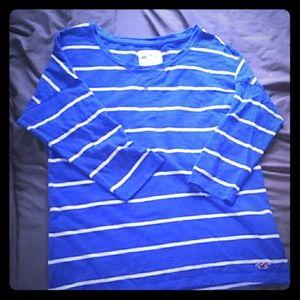 three quarter sleeve holliter shirt